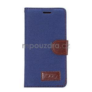 Stylové peněženkové pouzdro Jeans na Huawei Ascend P8 - tmavě modré - 2