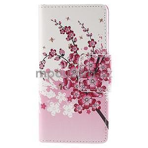 Peněženkové pouzdro Huawei Ascend P8 - kvetoucí větvička - 2