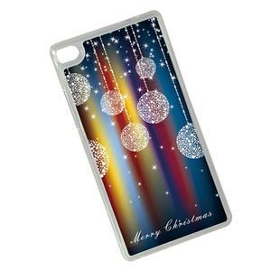Vánoční edice gelových obalů na Huawei Ascend P8 - třpytivé baňky - 2