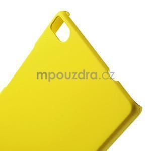 Plastový pogumovaný obal na Huawei Ascend P8 - žlutý - 2
