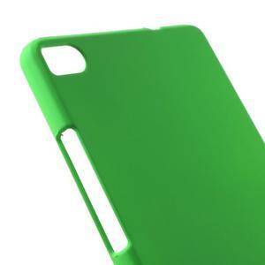 Plastový pogumovaný obal na Huawei Ascend P8 - zelený - 2