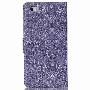 Pouzdro na mobil Huawei P8 Lite - textury květin - 2