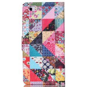 Pouzdro na mobil Huawei P8 Lite - koláž trojúhelníčků - 2