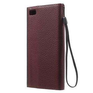 Luxusní peněženkové pouzdro na Huawei P8 Lite -  hnědé / černé - 2