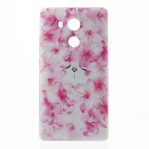 Softy gelový obal na mobil Huawei Mate 8 - kvetoucí švestka - 2
