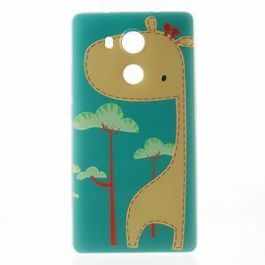 Softy gelový obal na mobil Huawei Mate 8 - žirafa - 2