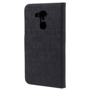 Clothy PU kožené pouzdro na Huawei Mate 8 - černé - 2