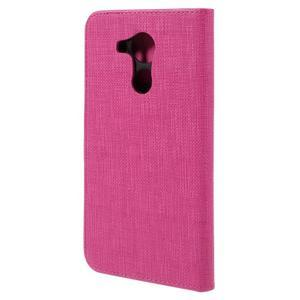 Clothy PU kožené pouzdro na Huawei Mate 8 - rose - 2
