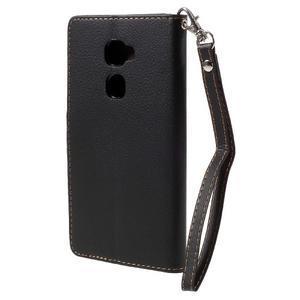 Knížkové PU kožené pouzdro na mobil Huawei Mate S - černé - 2