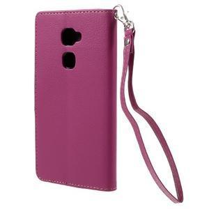 Knížkové PU kožené pouzdro na mobil Huawei Mate S - rose - 2