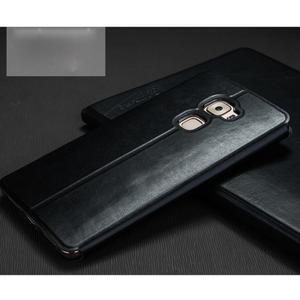 Vintage PU kožené pouzdro s kovovou výstuhou na Huawei Mate S - černé - 2