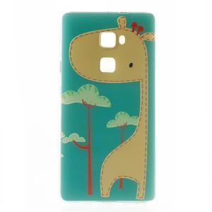 Softy gelový obal na mobil Huawei Mate S - žirafa - 2