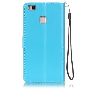 Magicfly knížkové pouzdro na telefon Huawei P9 Lite - světlemodré - 2