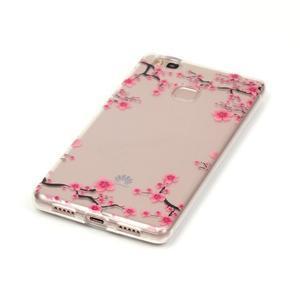 Průhledný gelový obal na mobil Huawei P9 Lite - květoucí strom - 2