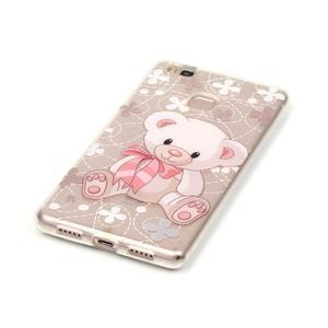 Průhledný gelový obal na mobil Huawei P9 Lite - medvídek - 2