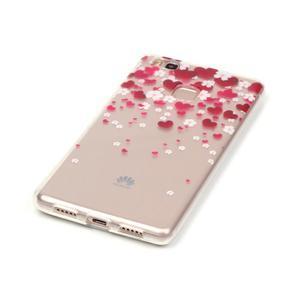 Průhledný gelový obal na mobil Huawei P9 Lite - srdíčka - 2