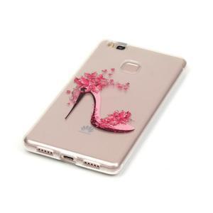 Průhledný gelový obal na mobil Huawei P9 Lite - pekelný střevíc - 2