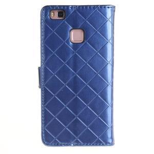Luxury PU kožené peněženkové pouzdro na Huawei P9 Lite - modré - 2