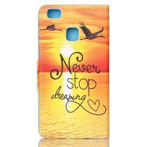 Patter PU kožené pouzdro na mobil Huawei P9 Lite - nepřestávej snít - 2