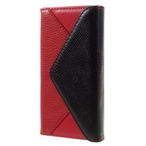 Peněženkové pouzdro na mobil Huawei P9 Lite - černé/červené - 2