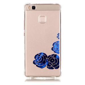 Lacqe gelový obal na Huawei P9 Lite - modré růže - 2
