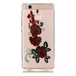 Lacqe gelový obal na Huawei P9 Lite - růže - 2