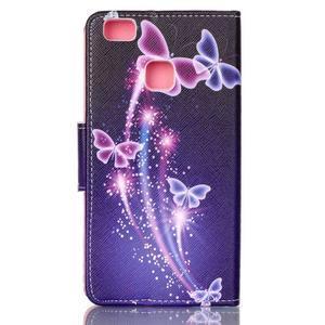Patter PU kožené pouzdro na mobil Huawei P9 Lite - kouzelní motýlci - 2