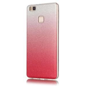 Gradient třpytivý gelový obal na Huawei P9 Lite - rose - 2