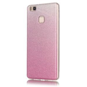 Gradient třpytivý gelový obal na Huawei P9 Lite - růžový - 2