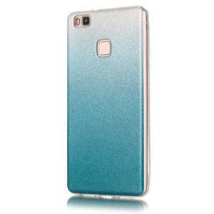 Gradient třpytivý gelový obal na Huawei P9 Lite - světlemodrý - 2