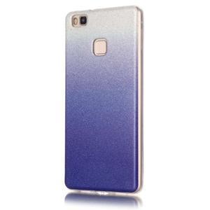 Gradient třpytivý gelový obal na Huawei P9 Lite - tmavěmodrý - 2