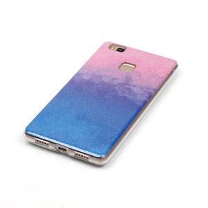 Gradient třpytivý gelový obal na Huawei P9 Lite - růžový/modrý - 2
