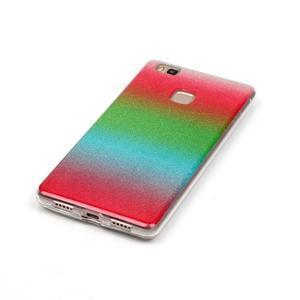 Gradient třpytivý gelový obal na Huawei P9 Lite - mix barev I - 2
