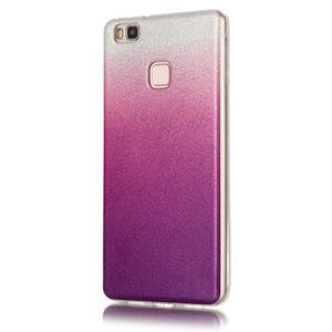 Gradient třpytivý gelový obal na Huawei P9 Lite - stříbrný/fialový - 2
