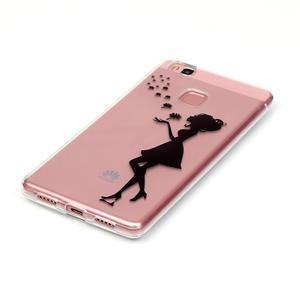Transparentní obal na telefon Huawei P9 Lite - květinová dívka - 2