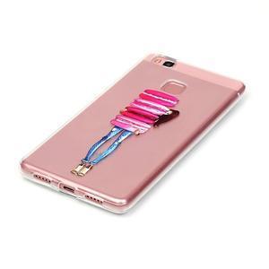 Transparentní obal na telefon Huawei P9 Lite - makrónky - 2