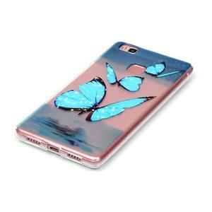 Transparentní obal na telefon Huawei P9 Lite - motýlci - 2