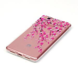 Transparentní obal na telefon Huawei P9 Lite - kvetoucí třešeň - 2