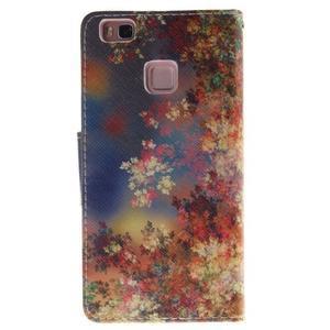 Lethy knížkové pouzdro na telefon Huawei P9 Lite - podzimní zátiší - 2