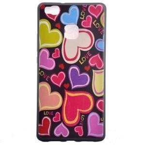 Gelový obal na telefon Huawei P9 Lite - srdíčka - 2