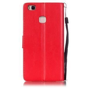 Magicfly knížkové pouzdro na telefon Huawei P9 Lite - červené - 2