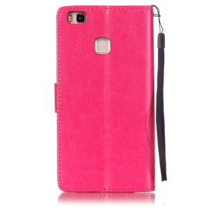 Magicfly knížkové pouzdro na telefon Huawei P9 Lite - rose - 2