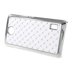 Drahokamový kryt na Huawei Y635 - bílý - 2