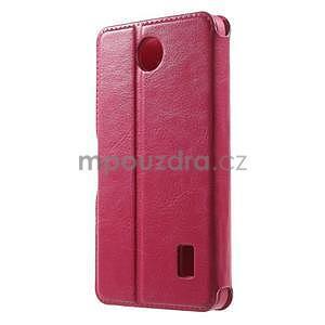 Rose PU kožené pouzdro na Huawei Y635 - 2