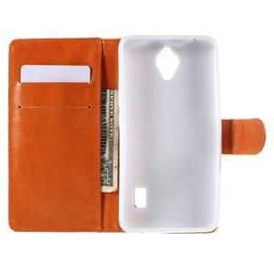 Zapínací peněženkové pouzdro na Huawei Y635 - folk - 2