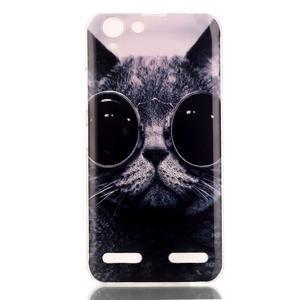 Gelový obal na Lenovo Vibe K5 / K5 Plus - cool kočka - 2