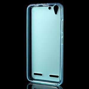 Matný gelový obal na mobil Lenovo Vibe K5 / K5 Plus - modrý - 2