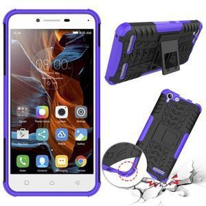 Outdoor odolný obal na mobil Lenovo Vibe K5 / K5 Plus - fialový - 2