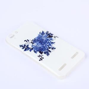 Softy gelový obal na mobil Lenovo Vibe K5 / K5 Plus - modré květiny - 2
