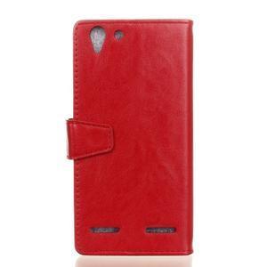 Knížkové PU kožené pouzdro na Lenovo Vibe K5 / K5 Plus - červené - 2
